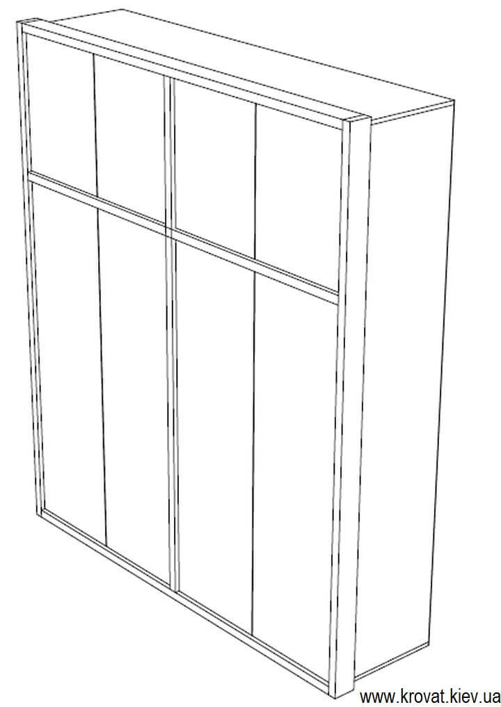 чертеж шкафа из шпона
