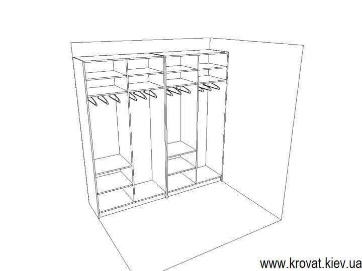 проект шкафа из шпона