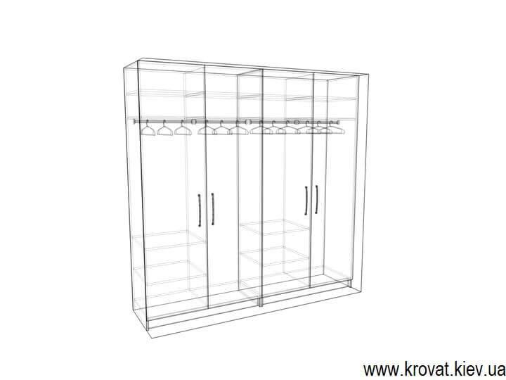 эскиз шкафа из шпона