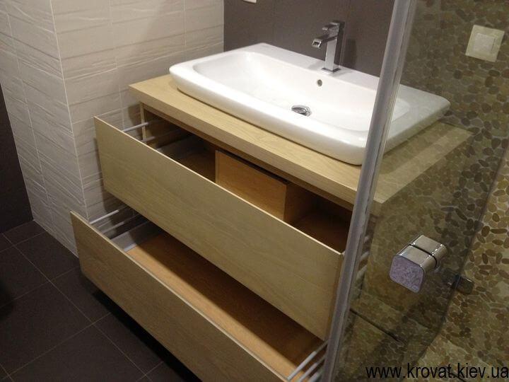 подвесная тумба для ванной на заказ