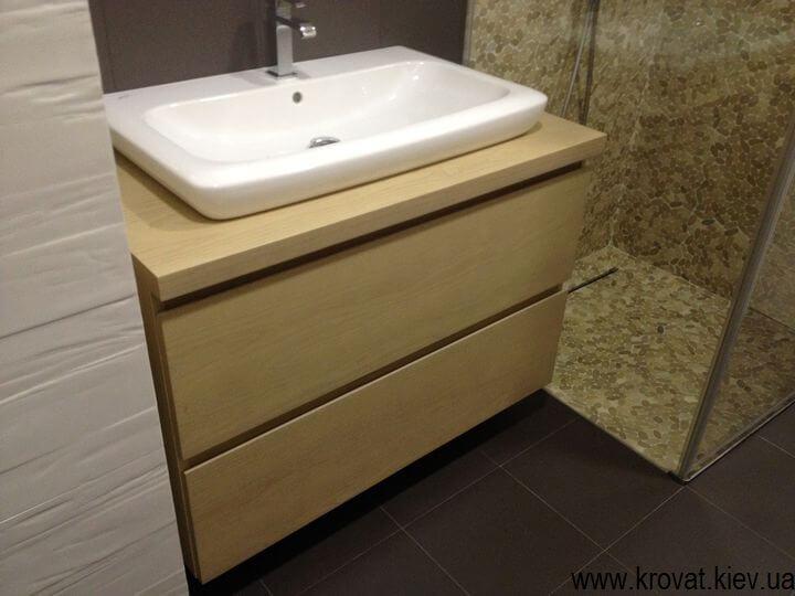 тумба из шпона в ванную