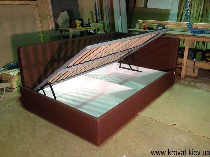 подростковая кровать в угол с ящиком