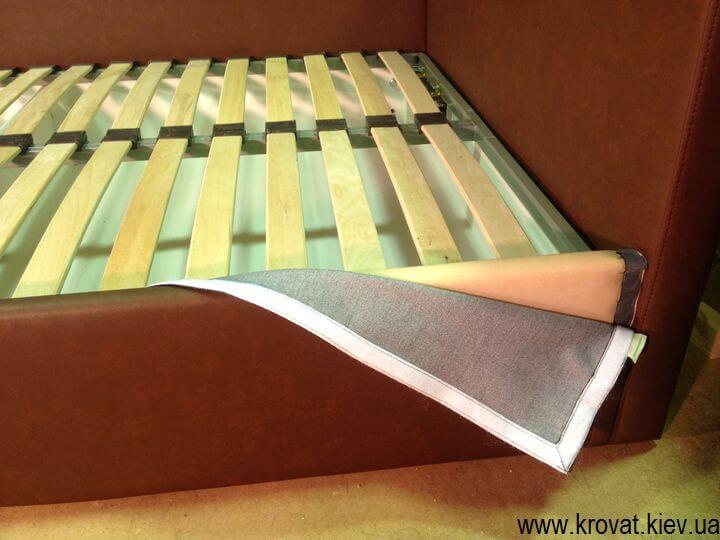 подростковая кровать в угол со съемным чехлом