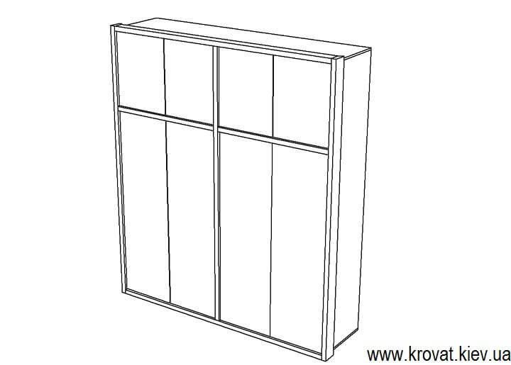 чертеж распашного шкафа