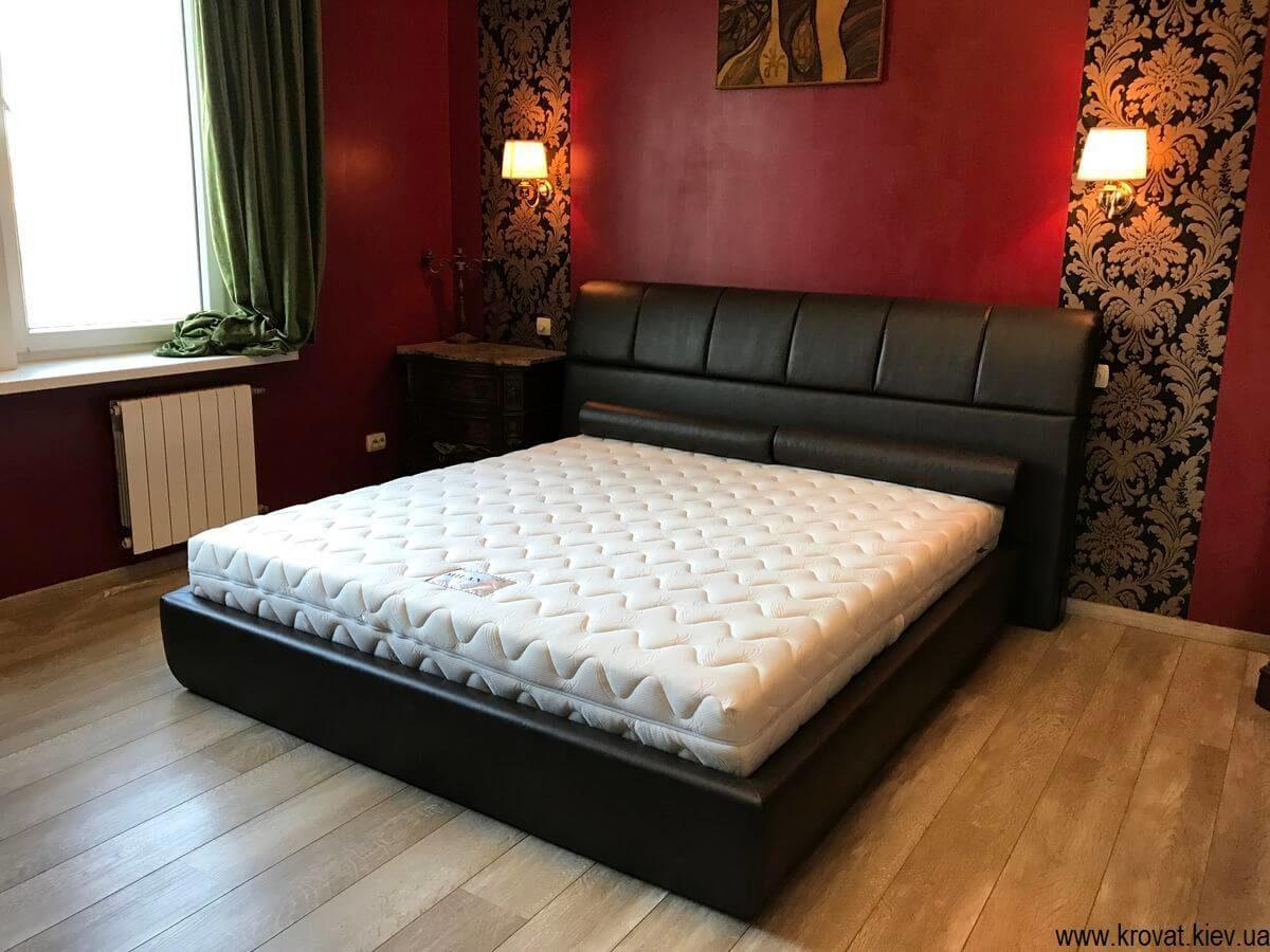 кровать с мягкой спинкой с подъемным механизмом