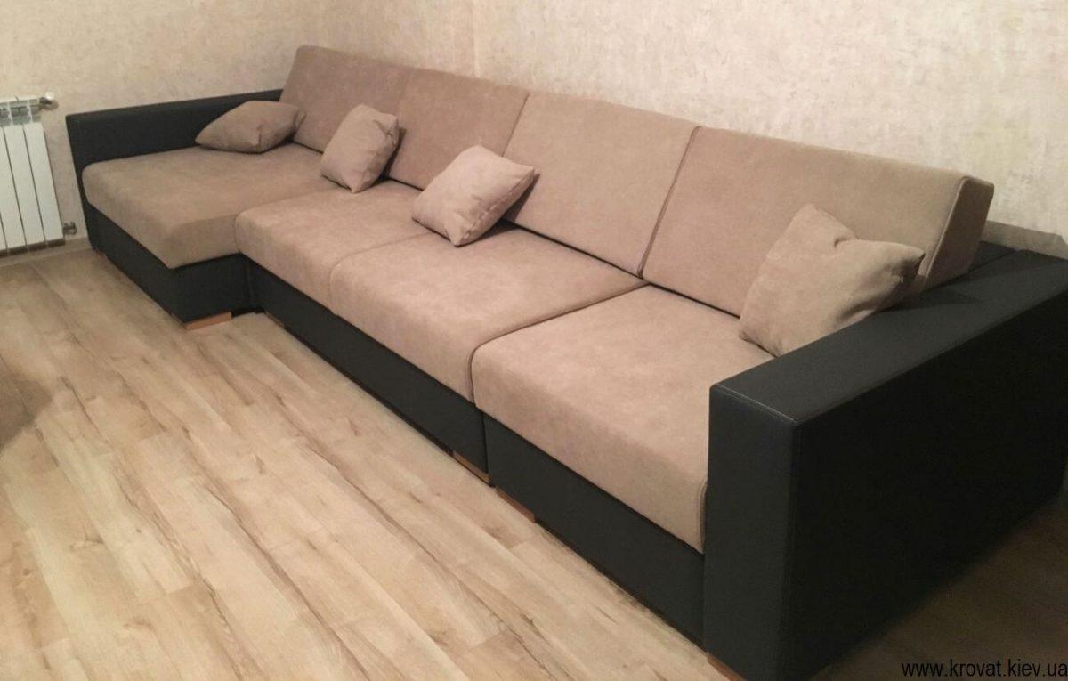 большие угловые диваны на заказ