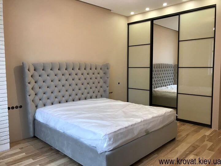 ліжко Мілан в інтер'єрі спальні на замовлення