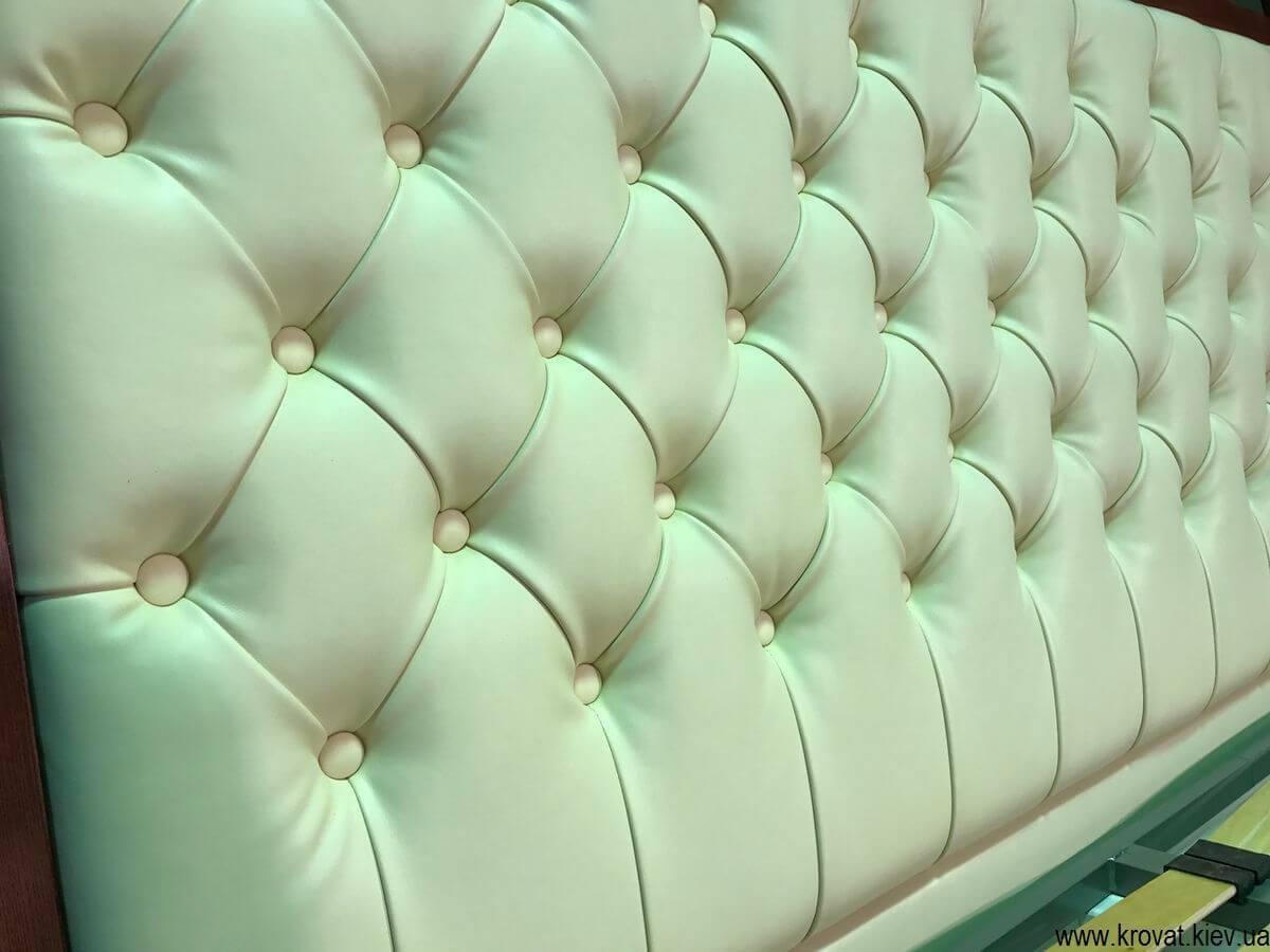 спинка ліжка з каретною стяжкою