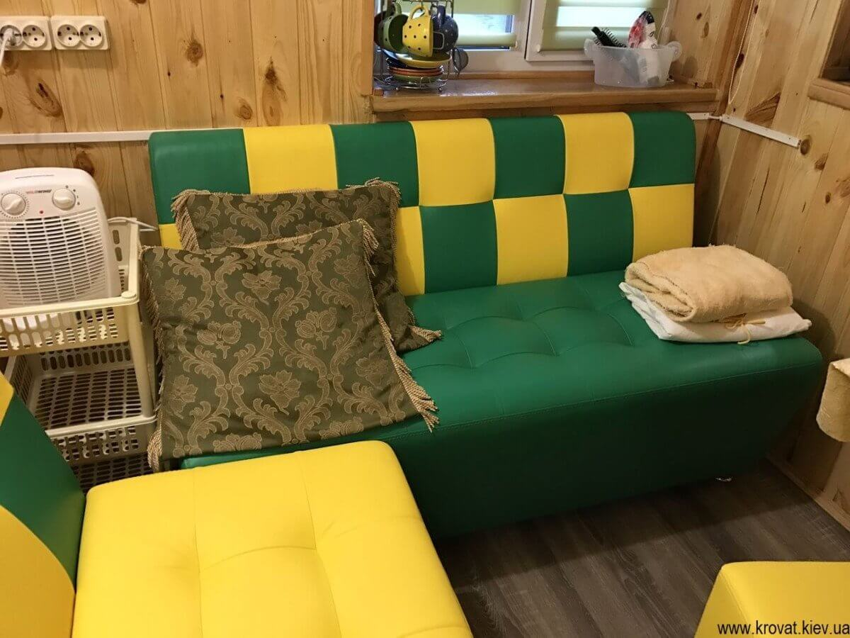 как изготовить кухонный диван