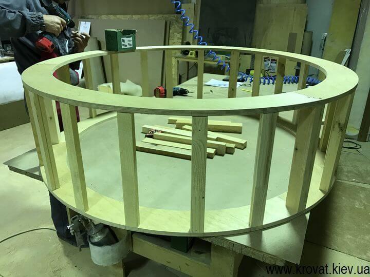 як зробити великий круглий пуф з каретною стяжкою