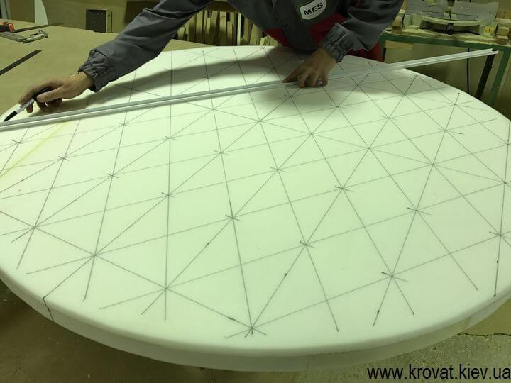 виготовлення великого пуфа с капітоне своїми руками