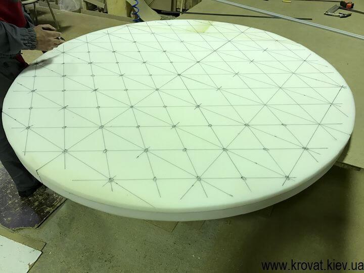 изготовление большого пуфа с пуговицами своими руками