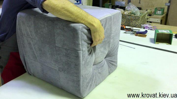 изготовление пуфа с утяжками своими руками