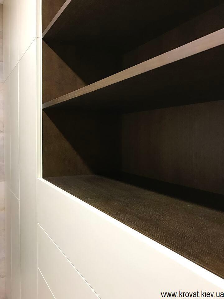 шкаф в ванную из шпона