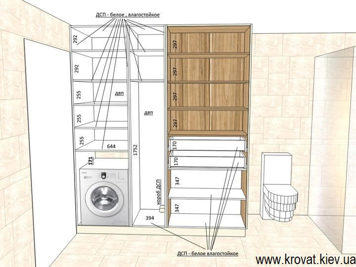 визуализация шкафа в ванную