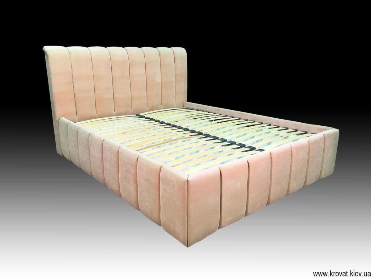 кровать с вертикальными утяжками на заказ