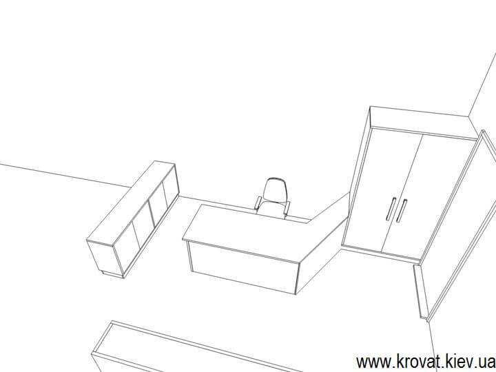 чертеж мебели для офиса
