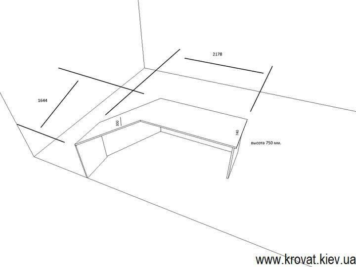 размеры стола для офиса