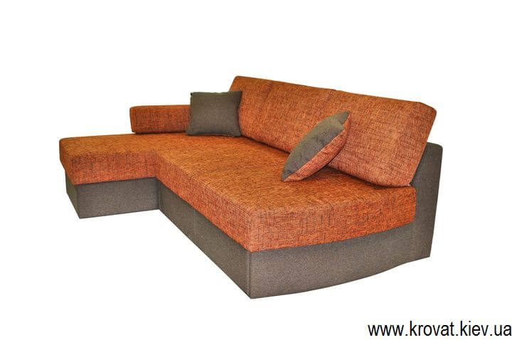 раскладной угловой диван без подлокотников