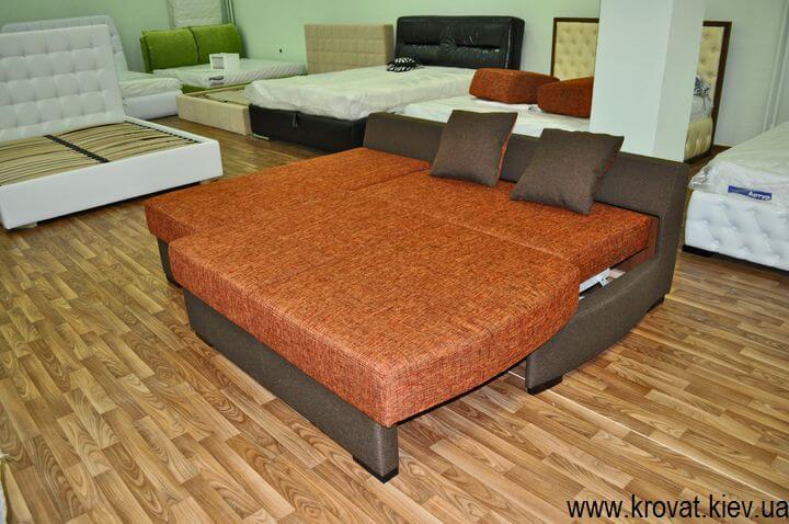 угловые раскладные диваны без подлокотников