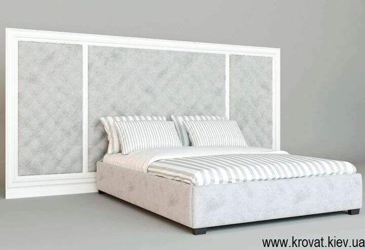 3d візуалізація ліжка з дерев'яним обрамленням