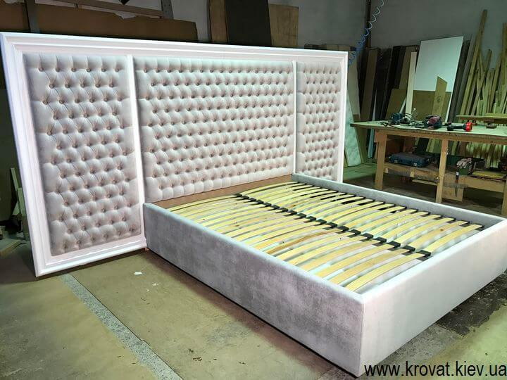 производство кроватей с деревянным обрамлением