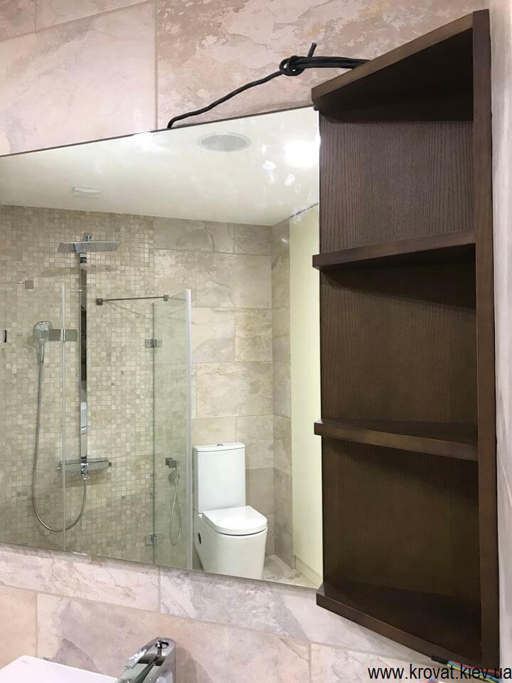 шпонированная подвесная тумба для ванной