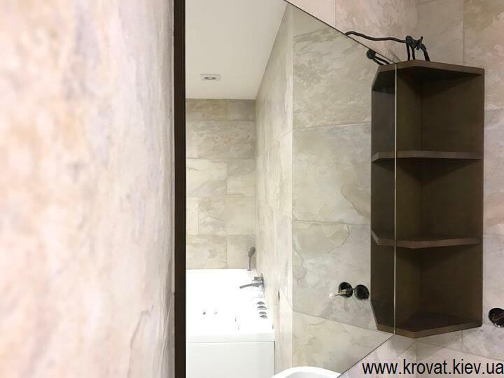 зеркало в ванную на стену на заказ
