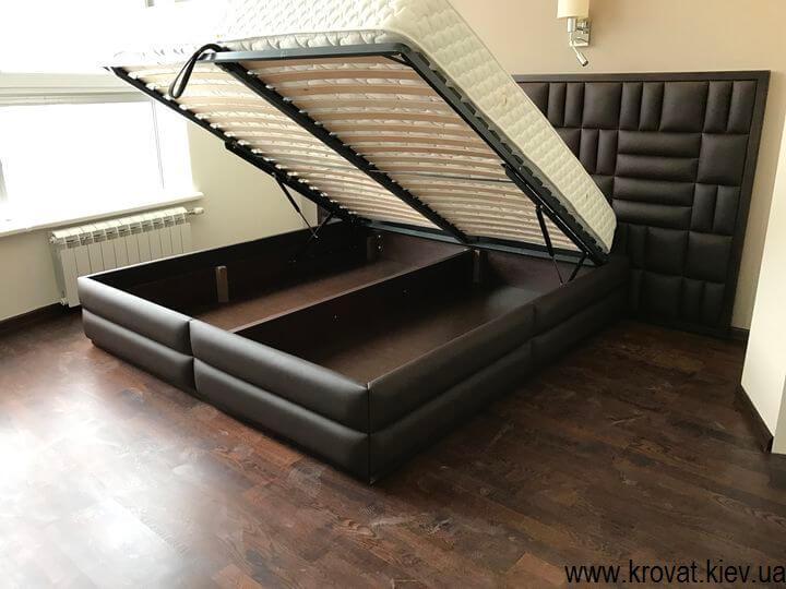 широкие кровати на заказ с подъемным механизмом