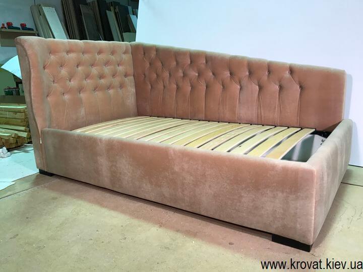 ліжко для дівчинки в кут
