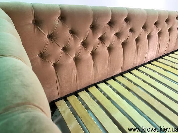кровать для девочки с пуговицами