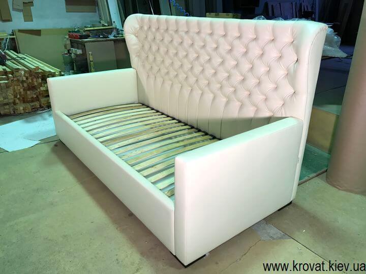 кровать для девочки с капитоне