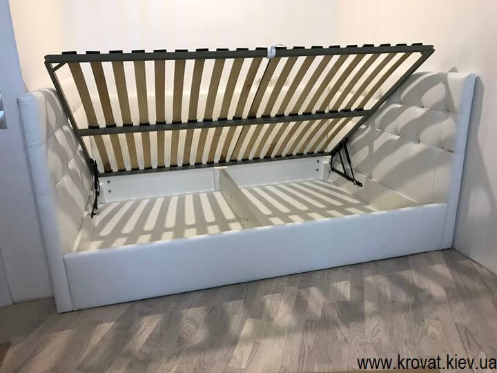 ліжко з трьома спинками з ящиком