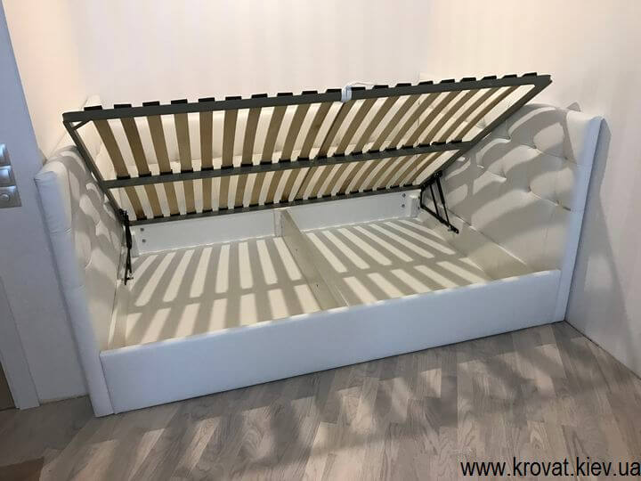 кровать с тремя спинками с подъемным матрасом
