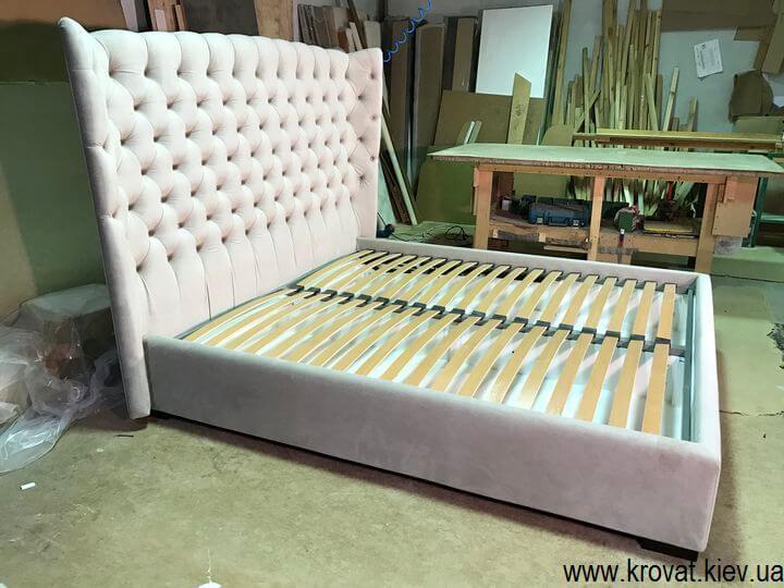 кровать с закругленной спинкой с ушами