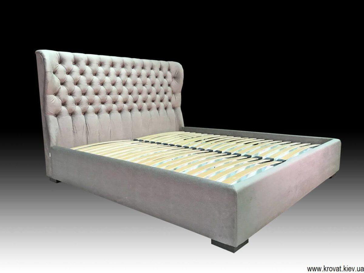 кровать с закругленным изголовьем на заказ
