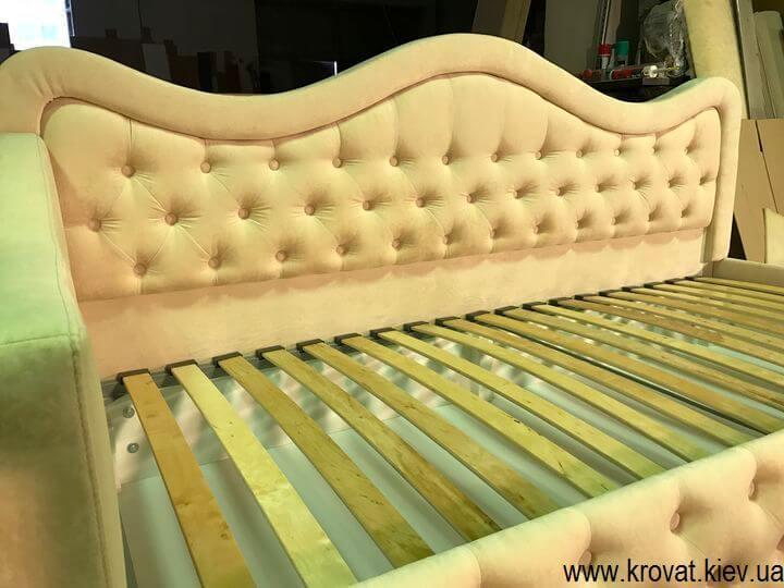 подростковая кровать для девочки с каретной стяжкой