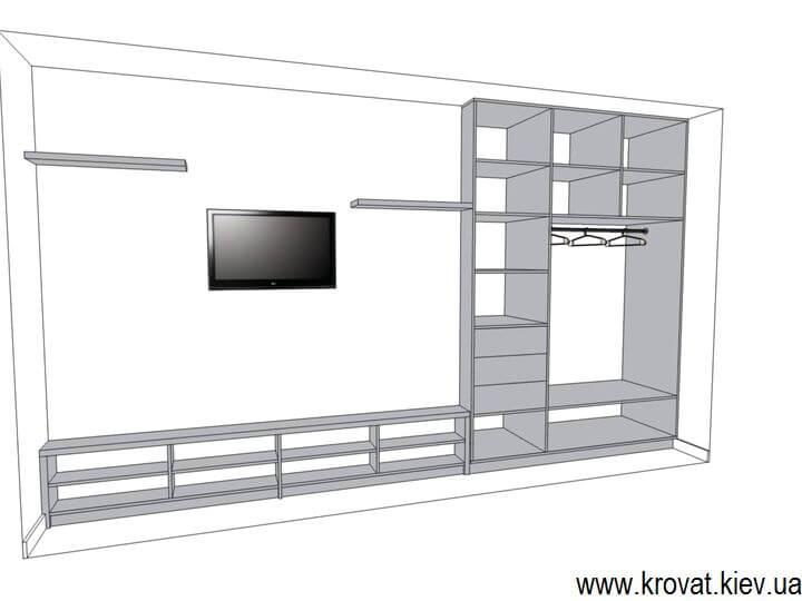 3d модель мебели в детскую на заказ