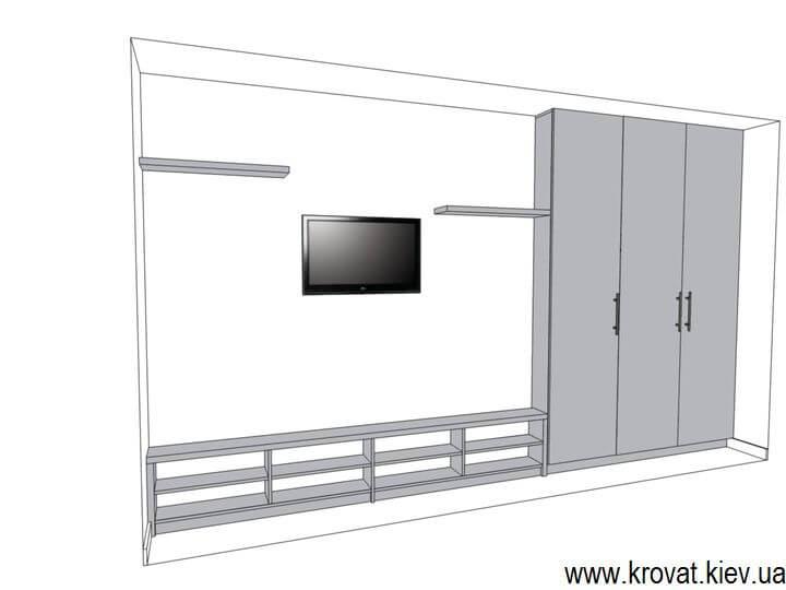 3d модель мебели в детскую