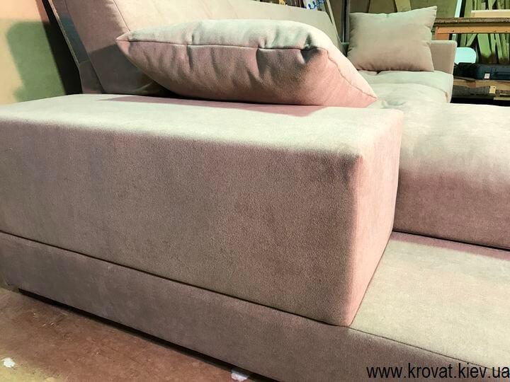 нераскладной мягкий угловой диван