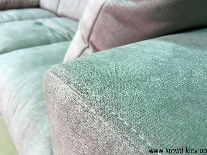 нестандартний м'який кутовий диван