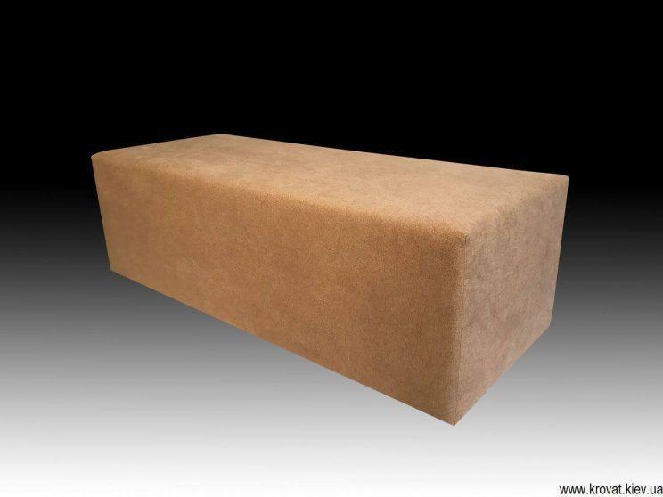 прямокутний пуф для дивана на замовлення