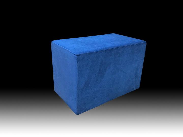 прямоугольный синий пуф на заказ