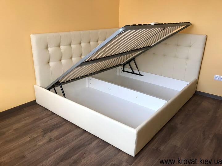 ліжко з бічною спинкою з ящиком для білизни