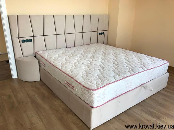 ліжко в сучасному стилі для спальні