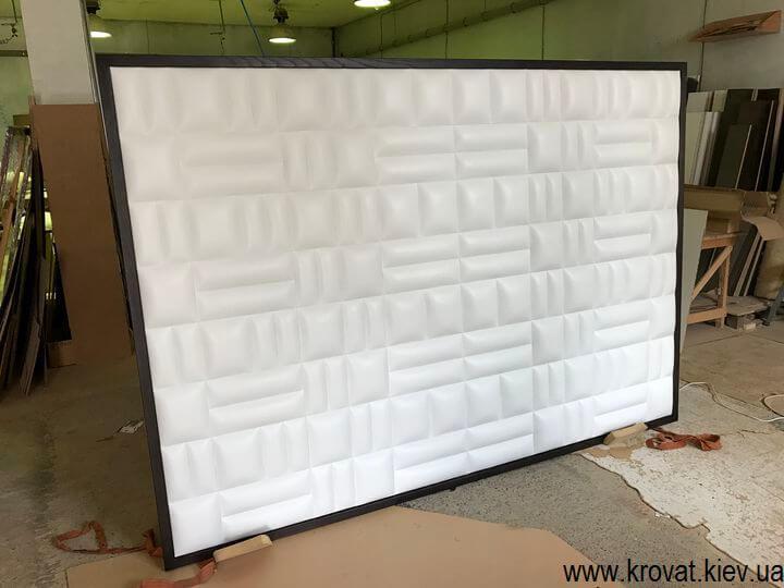 мягкая стеновая панель в кожзаме