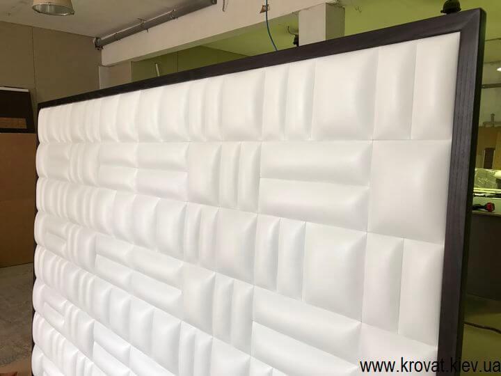 мягкая стеновая панель в экокоже