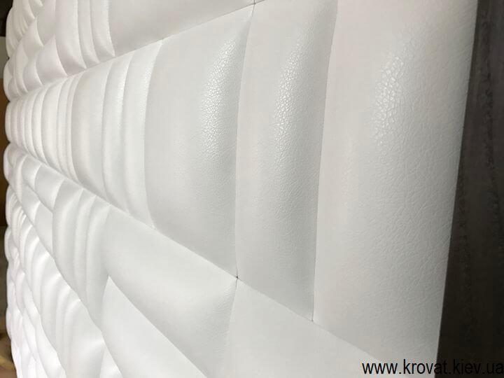 мягкая стеновая панель в коже