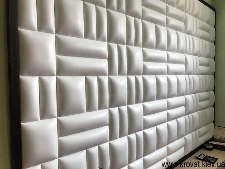 мягкая стеновая панель с квадратами