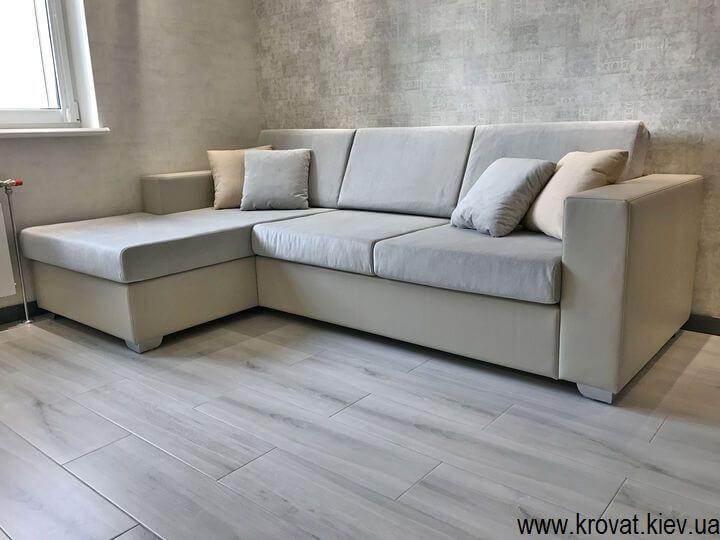 нераскладной угловой диван для кухни студии